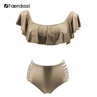 Faerdasi 2017 Sexy Bandeau Bikinis Women Swimsuit Push Up Swimwear Brazilian Bikini Set Beach Bathing Suit