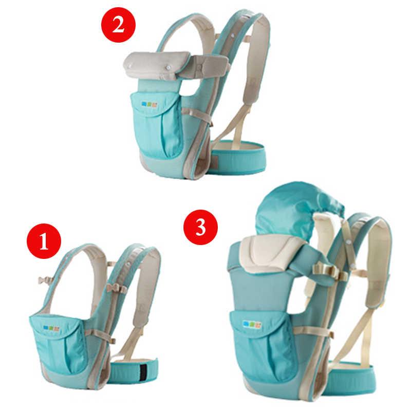 3 в 1 эргономичный рюкзак-кенгуру для детей 0-24 месяцев, многофункциональный рюкзак-слинг для младенцев, удобный детский рюкзак-кенгуру синего цвета
