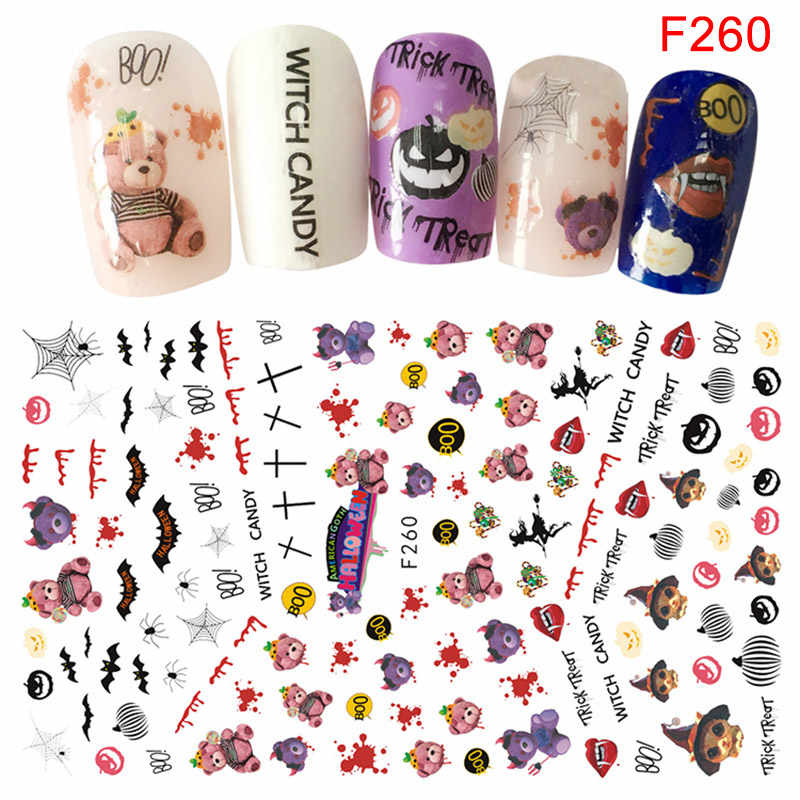 Nail Art Sticker Adhesive Women DIY Manicure Halloween Tips Decoration Stickers OA66