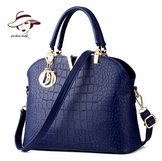 25947621db3 2017 New Women Handbags Famous Brands Women Messenger Bag Alligator Pattern  PU Leather Handbags Shell Shoulder Bag Crossbody Bag-in Top-Handle Bags  from ...
