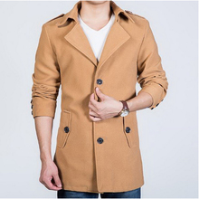 210504/Шерстяные пальто мужской средней длины свободно Шерстяные куртки/мужская одежда осень шерстяное пальто/Мягкий и удобно