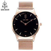Top Marque Mens Montres De Luxe Quartz Casual Montre Hommes En Acier Inoxydable Bracelet En Maille Ultra Mince Cadran Horloge relogio masculino