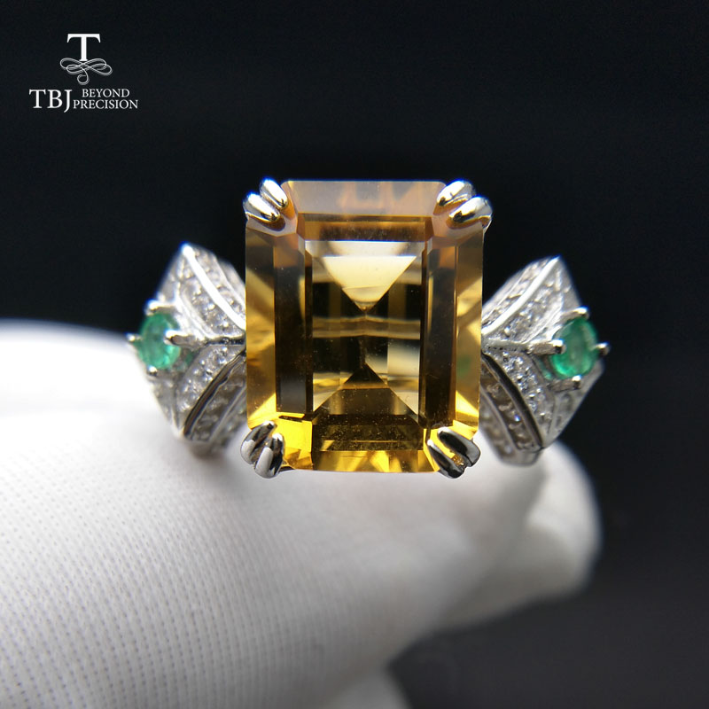 TBJ,The lastest Luxury natural Brazil Citrine Big Gemstone Ring in solid 925 sterling silver party gift with nice jewelry boxTBJ,The lastest Luxury natural Brazil Citrine Big Gemstone Ring in solid 925 sterling silver party gift with nice jewelry box
