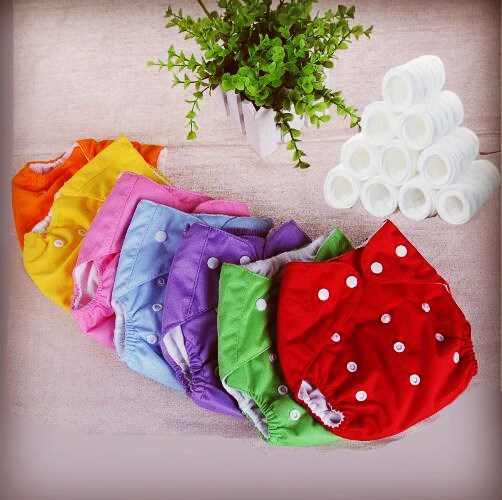 Фотография 0-3 years old baby reusable nappies 7 colors adjustable washable breathable cloth diapers cover training shorts