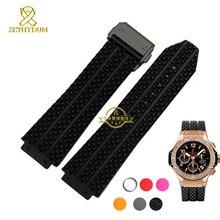 Silicone bracelet En Caoutchouc bracelet bracelet bracelet étanche montres bande Convexe interface 25mm 21mm accessoires ceinture