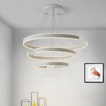 Современный круглый полукруглый светодиодный подвесной светильник для столовой, кабинета, входа, гостиной, кухни