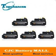 5PCS High Quality power tool Battery For Dewalt 12V 2 0Ah 2000mah MAX Li ion DCB120