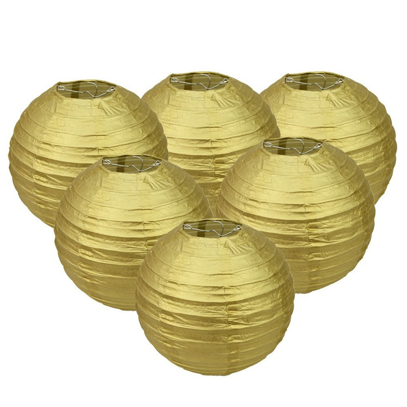 Paper Lanterns Wedding Decoration Ideas: Hot Sale!Gold Color Paper Lantern Wedding Decoration Paper