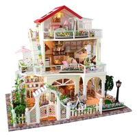 DIY Doll House Forever & Always Valentine's Day Luxurious 3 Layers Cottage Without Dust proof Cover