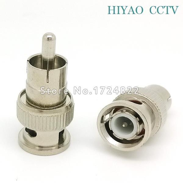10pcs BNC Male to RCA Male Coax Cable Connector Adapter F/M Coupler for CCTV Camera Accessory 5pcs bnc male to rca male coax cable connector adapter f m coupler for cctv camera cable connector accessories