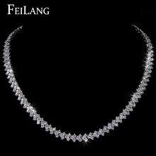 Diseño De Roma ZAKOL Oro Blanco Colgante Plateado Collar con Corazón de Calidad Superior Cubic Zircon Del Diamante Para Mujer FSNP005