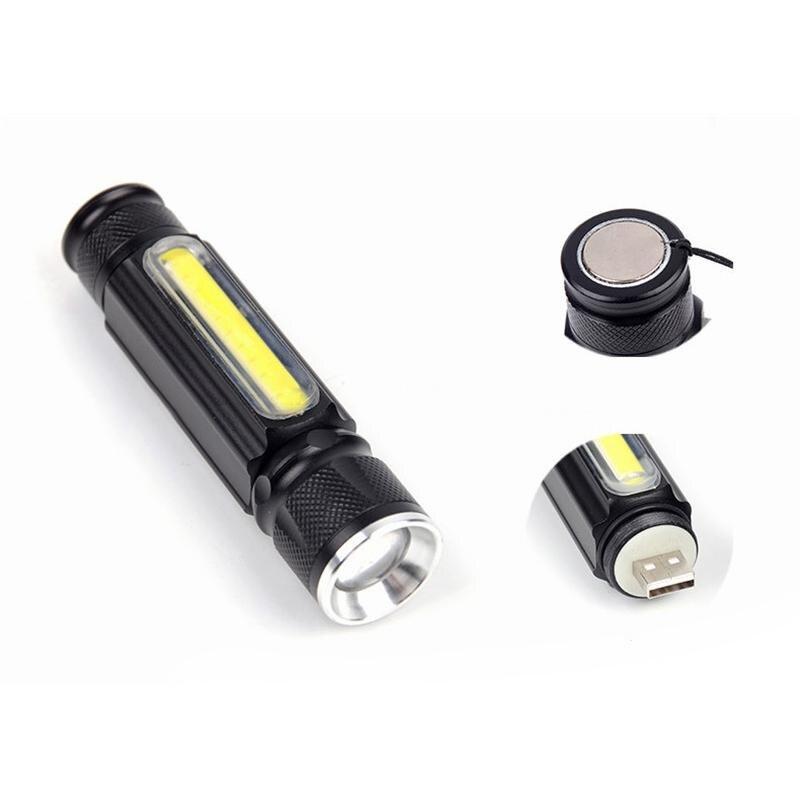 Lanternas e Lanternas lumiparty usb cob + cree Distância de Iluminação : 200-500 m