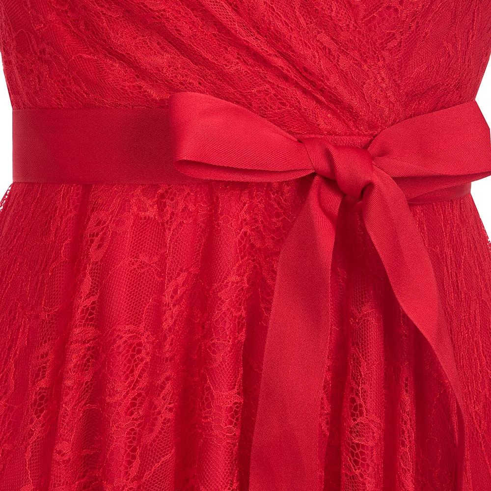 Vestidos coquetel vermelho sem manga, elegante vestido