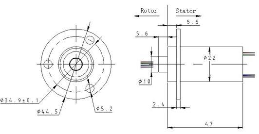 Corrente alta 2-6 rota 30a anel deslizante