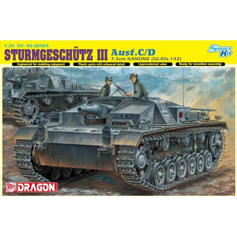 2019 Nuevo Estilo ¡dragón 6851 1/35 Sturmgeschutz 7,5 Cm Kanone Ausf! C/d (bonus: Pistas Mágicas)-kit De Modelos A Escala Precio De Venta Directa De FáBrica