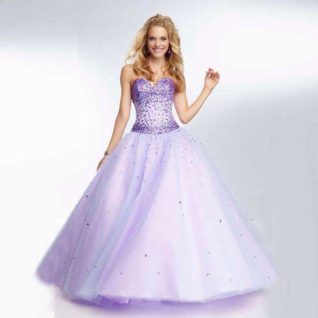 Novo 2017 sweet 15 ano coral mint verde cor lilás quinceanera vestidos vestido de Baile de Tule Cristal Top Meninas Baratos Vestido de Baile CR198