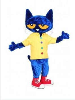Pete the Cat Adult Size Halloween Cartoon Mascot Costume Fancy Dress - discount item  10% OFF Costumes & Accessories