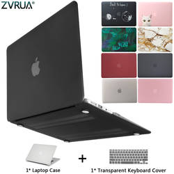 Новый чехол для ноутбука Apple MacBook Air Pro retina 11 12 13 15 mac book Pro 13,3 15,4 дюймов с сенсорной панелью + крышка клавиатуры