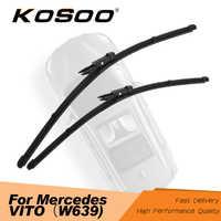 KOSOO For Mercedes-Benz Vito W639 2006 2007 2008 2009 2010 2011 2012 2013 2014 2015 2016 Car Wiper Blade Fit Pinch Tab Arms