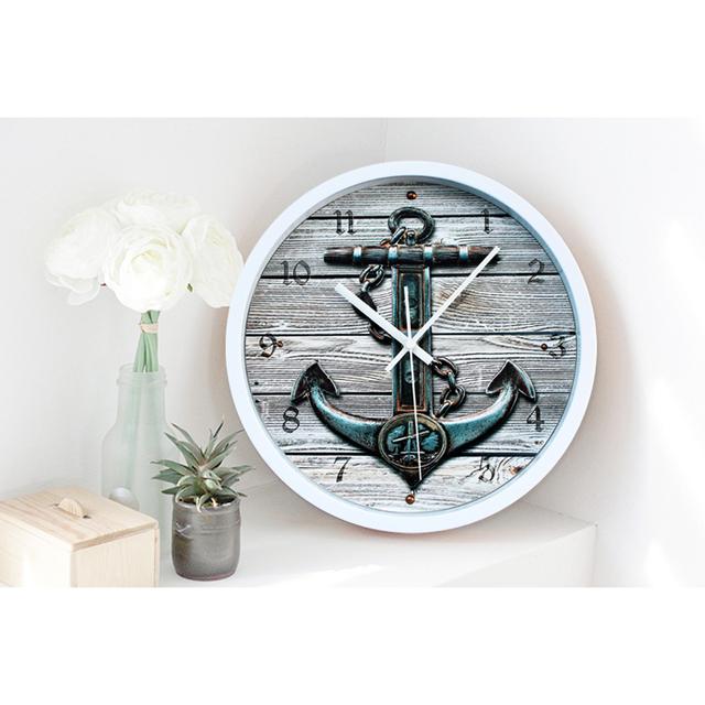 Saat Clock Reloj Wall Clock Relogio de Parede Reloj de Pared Wall Clocks Horloge Murale Duvar Saati Vintage Mediterranean hall