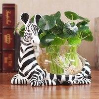 Modern Clear Glass Vase Personality Hydroponic Flower Pot Creative Aquarium Container Creative Hydroponic Plant Transparent Vase