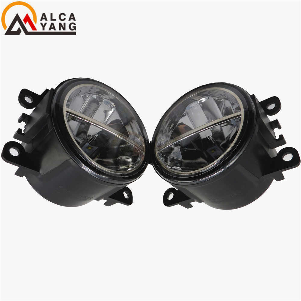 Malcayang For Citroen C3 C4 C5 C6 C-Crosser JUMPY Xsara Picasso 1999-2015 Car-styling LED fog lamps10W high brightness lights citroen jumpy ii 2007 carbon