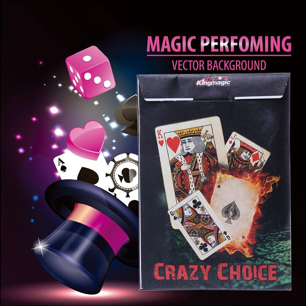 New Crazy Choice card Deck Magic trick Close Up Turn Cards to the Same Magic Toy Articoli per giochi di magia