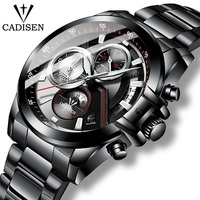 CADISEN 2019 New Quartz Men's Watches Sports Business/Waterproof/Watch Men Stainless Steel Male Wrist Watches Relogio Masculino