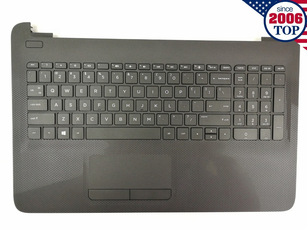 For HP 15-AC 15-AF Laptop PALMREST W/ KEYBOARD TOUCHPAD 813974-001 Black spanish latin laptop keyboard for sony vaio svp1321ecxb svp1321ggxbi svp1321hgxbi svp1321zrzbi sp la palmrest backlit touchpad