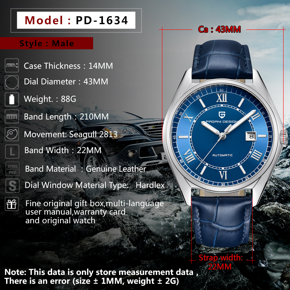Image 3 - PAGANI Mens Mechanical Watches 2020 Top Brand Luxury Watch Men  Automatic Leather Watch Men Waterproof Clock Relogio  MasculinoMechanical Watches