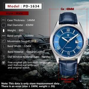 Image 3 - PAGANI relojes mecánicos para hombre, cronógrafo de lujo, automático, de cuero, resistente al agua, Masculino, 2020