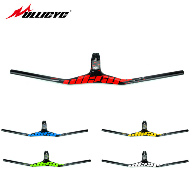 ULLICYC Manillar Carbon MTB Bicycle Riser One shaped Integrated Handlebar With Stem 3K Black Gloss Matte Carbon Handlebar YT966 in Bicycle Handlebar from Sports Entertainment