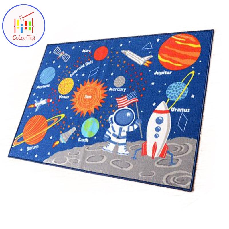 137 CM enfants tapis rond tapis de jeu univers planète tapis de jeu bébé ramper couverture Gym tapis de jeu enfants intérieur décoration plancher