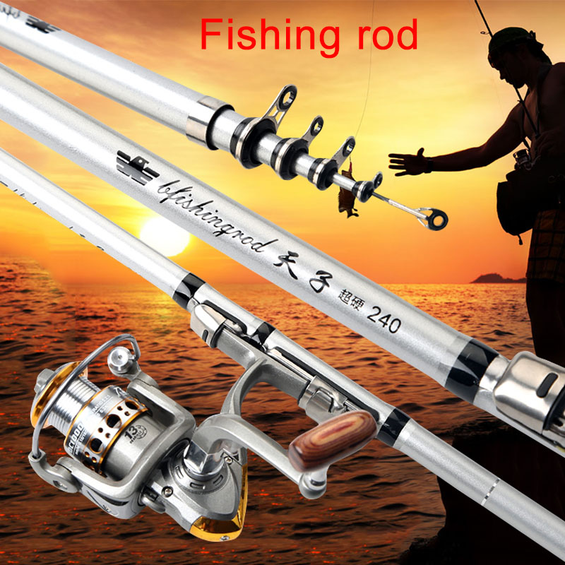 New Telescopic Fishing Rod Reel Travel Portable Sea Fishing Pole for Freshwater Saltwater XD88