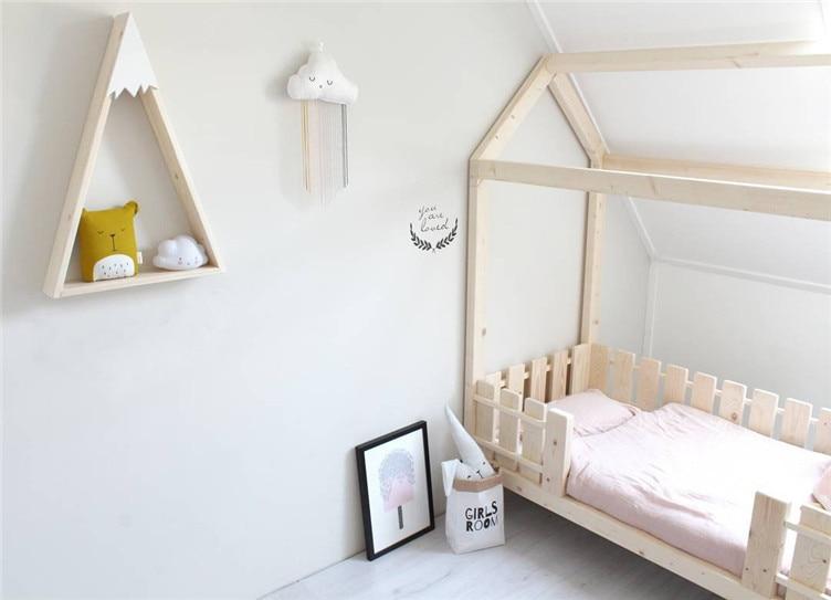 Kinderkamer Houten Boom : Babykamer op muur hout sneeuw berg plank voor kinderkamer