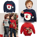 Brand cartoon boys christmas sweater children's sweater for boys kids pullove boy clothing 3-8 years