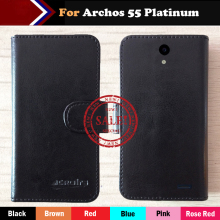 Hot!! Archos 55 Platinum Case Factory Price 6 Colors Leather Exclusive For Cover Phone Wallet Bag +Tracking