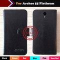Hot!! caso archos 55 platinum preço de fábrica 6 cores tampa do telefone da carteira bolsa de couro exclusivo para archos 55 platinum + rastreamento