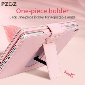 Image 2 - PZOZ kılıf Apple iPad Pro için 9.7 10.5 10.2 inç 2019 2018 iPad mini 5 4 3 hava 1 2 koruyucu kapak ile Bluetooth klavye kılıfları