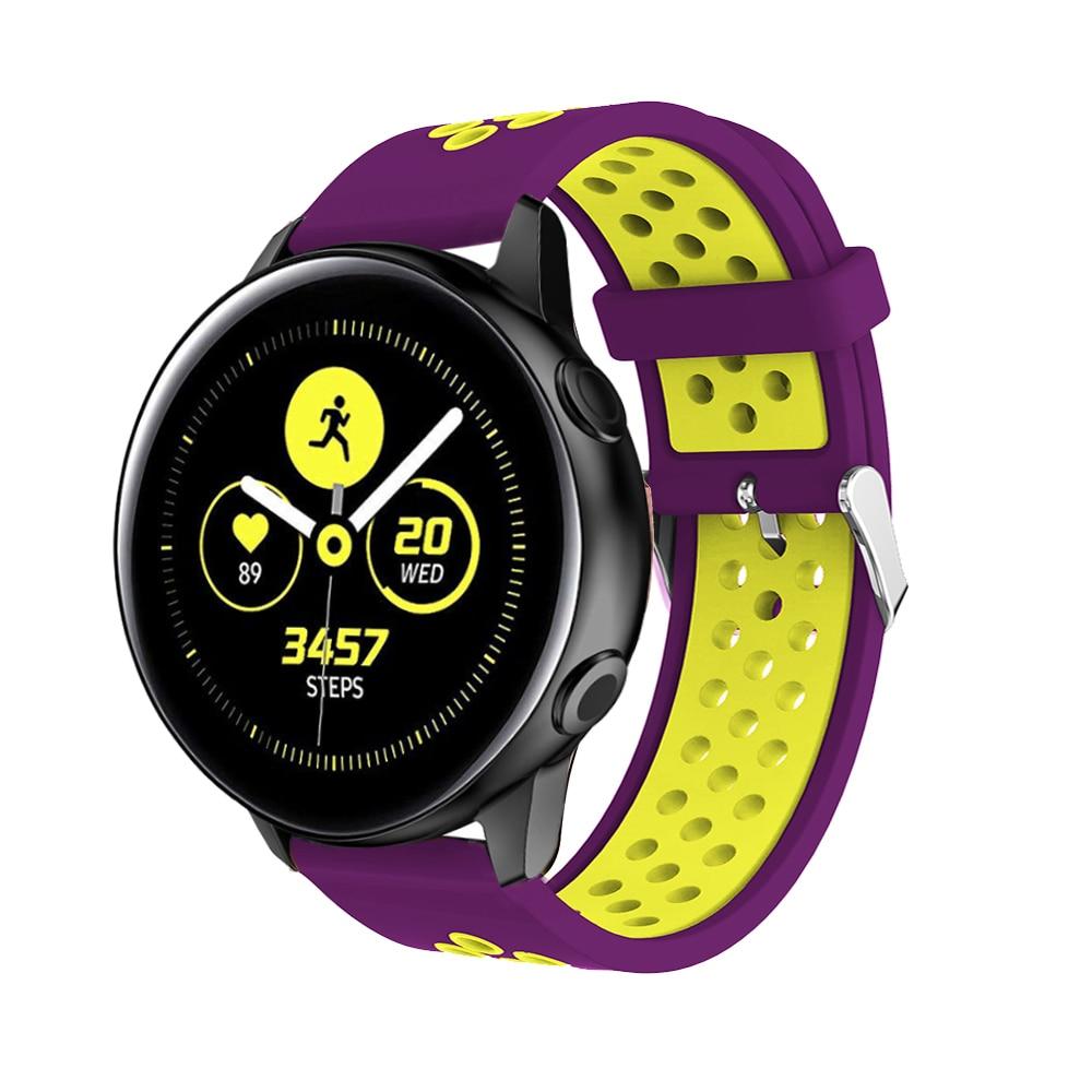 Ремешок силиконовый для смарт часов спортивный браслет samsung