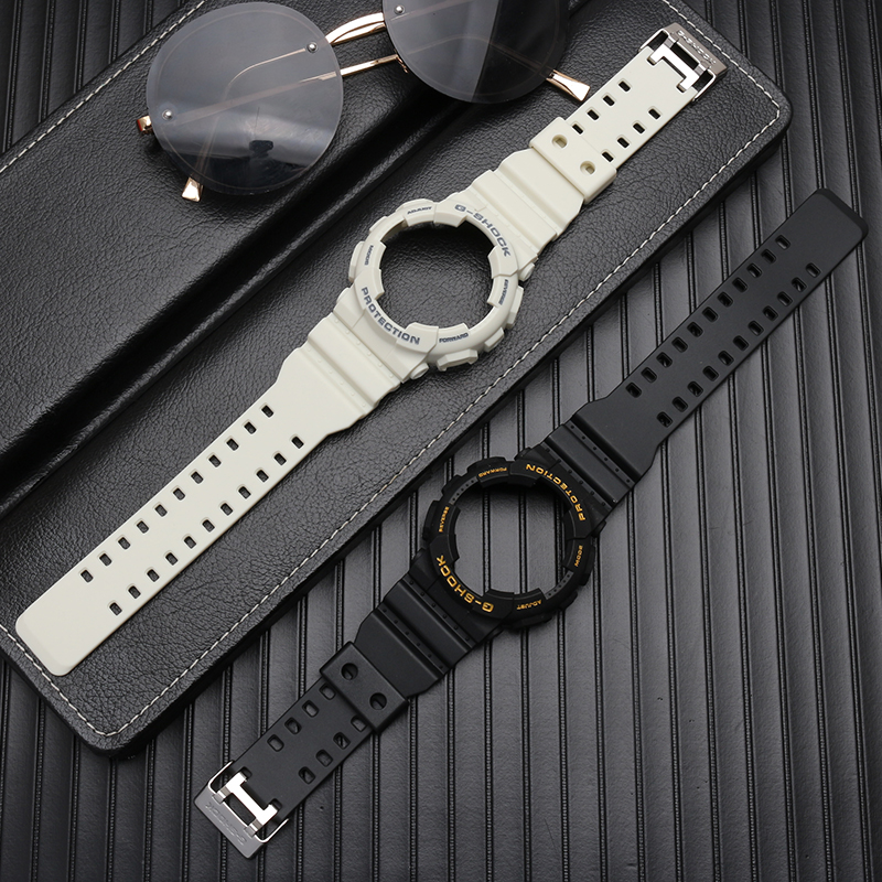 SIKAI Original Quality Rubber Watchband With Case For Casio GA100 GA-110 GD120 Silicone Men's Waterproof Watch Strap With Shell