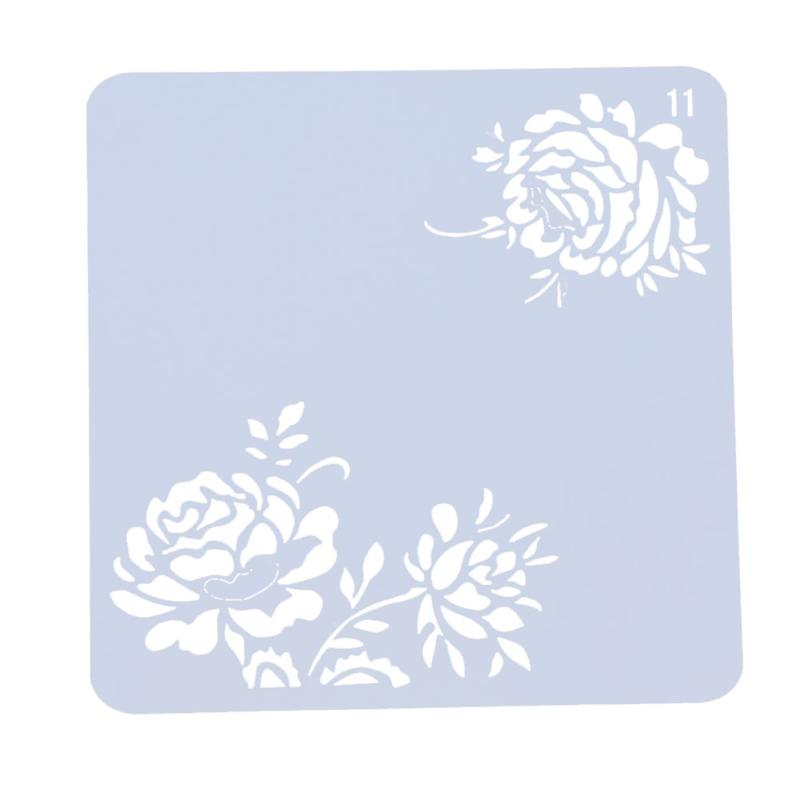 Flower Hollow Template Layering Stencils For DIY Scrapbooking Photo Album Decor Card Crafts Plastic Drawing Painting Pochoir