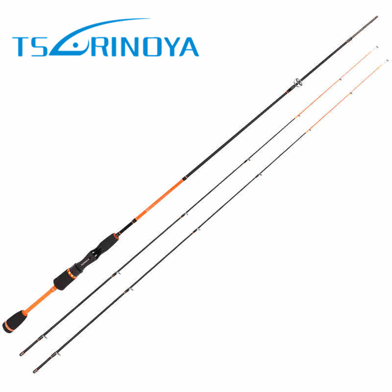 TSURINOYA JOY TOGETHER IV Area Trout Spinning Fishing Rod Ultra Light 1.8m 2 Luminous Tips 98% Carbon Night Fishing Spinning Rod fishing joy every day 480g