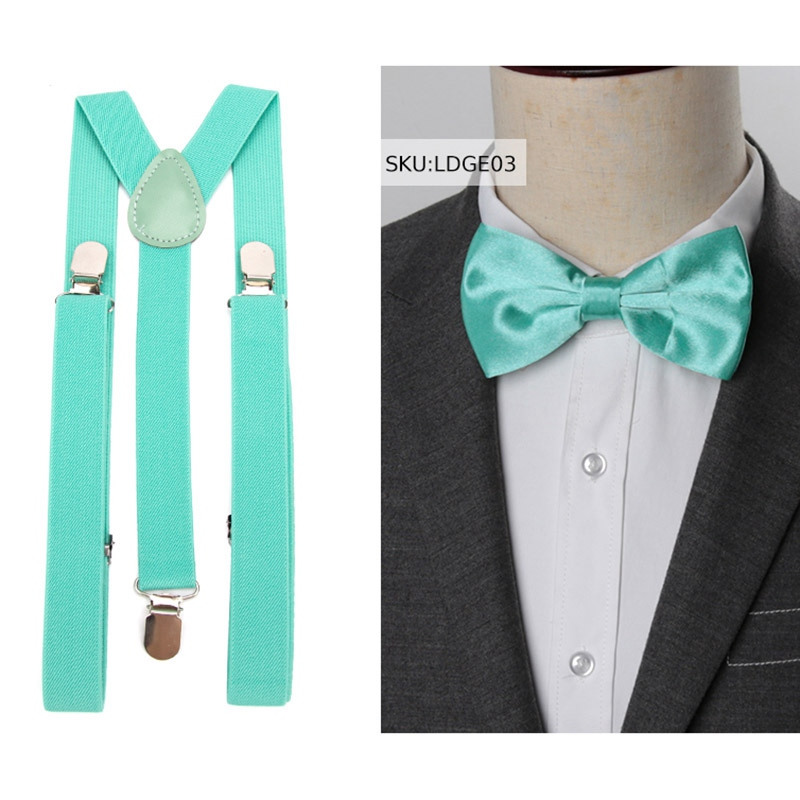 Suspenders Men Bow Tie Suspensorio for Man Women Solid Bowtie Braces Trousers Tirantes Hombre Wedding Leisure Pink Shirt Stays 1