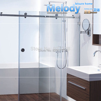 Free Shipping (No glass & No Bar) frameless Shower Sliding door Whole set Hardware 304 stainless steel HD11