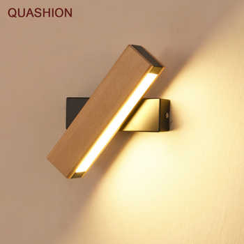 Nordic simple Wooden LED Wall Lamp Modern Adjustable Lighting bar restaurant Living room Porch Wall Lamps Corridor decor - DISCOUNT ITEM  40% OFF All Category