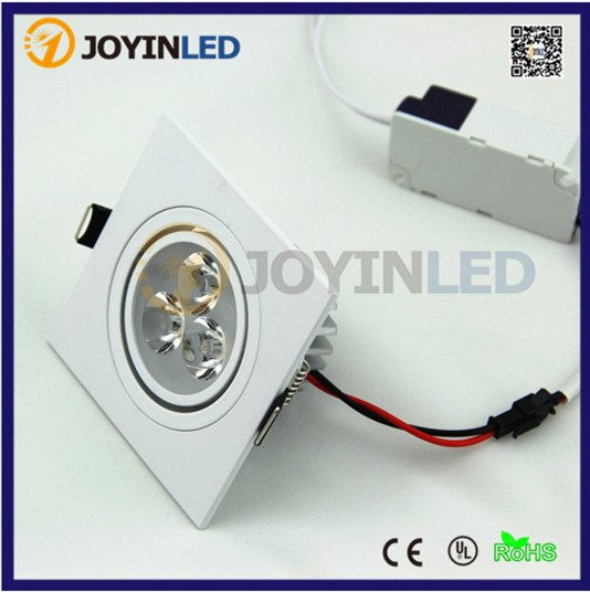 High power AC85~265V 3W 6W White paint square led ceiling down light dimmable led spot lamps kinfire circular 6w 420lm 6500k 30 x smd 3528 led white light ceiling lamp w driver ac 85 265v