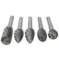Wholesale Price 5pcs Set 12mm Head Tungsten Carbide Rotary Point Burr Die Grinder Bit 6mm Shank