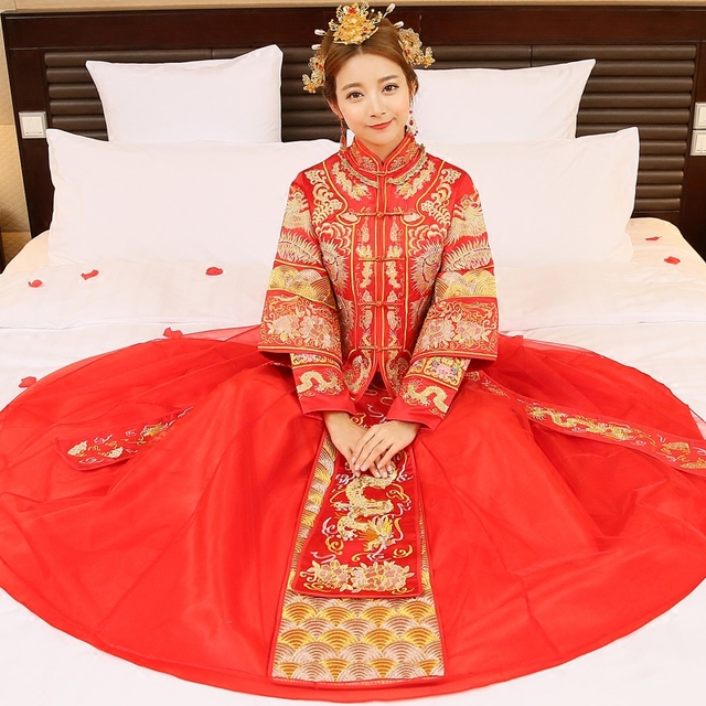 Free shipping maternity wedding dresses chinese style wedding dress ...