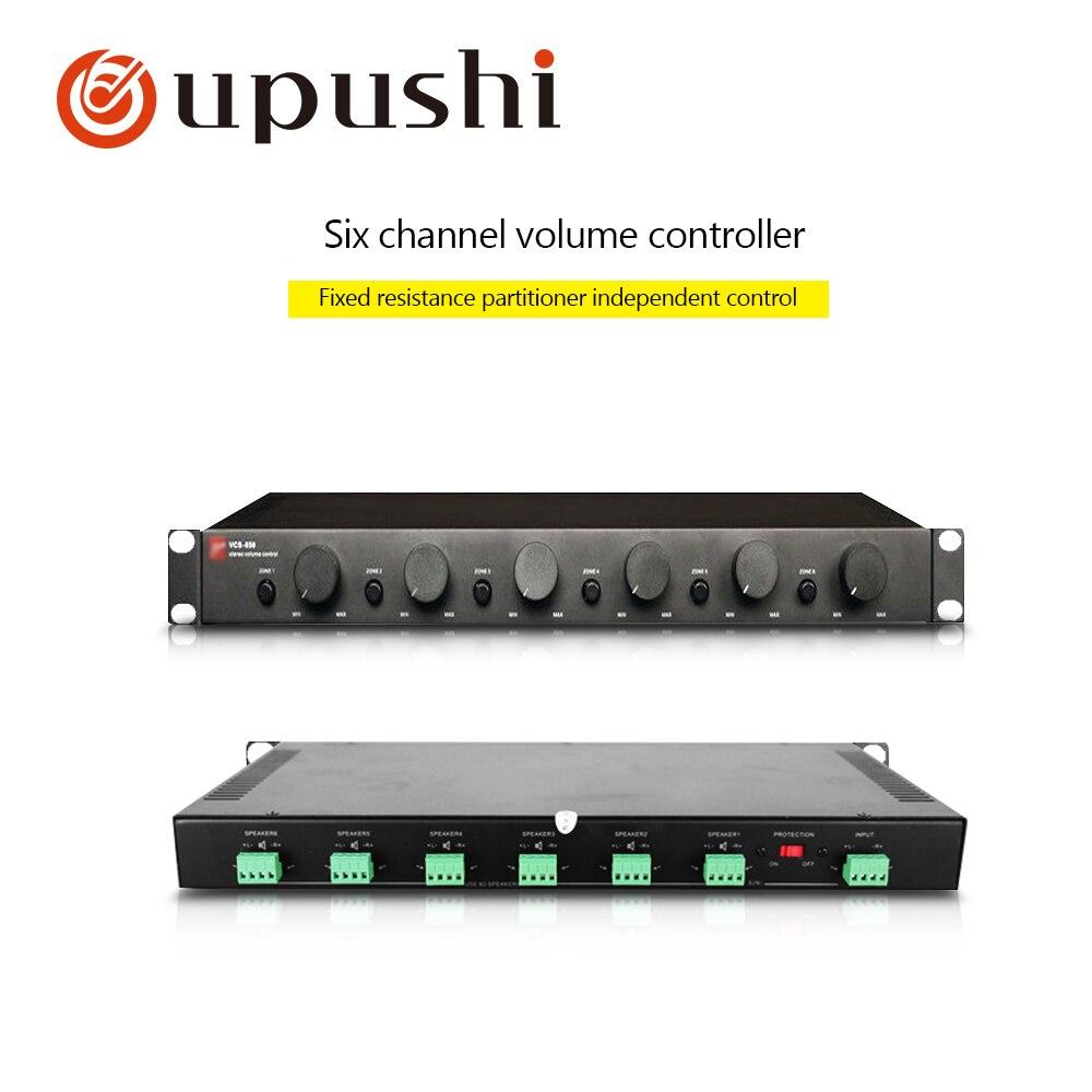 Oupush i VCS-650 12*50 W haut-parleur contrôle du Volume audio 2-8ohm dispositif correspondant à la résistance pour le système de musique de fond